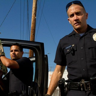 End of Watch - Michael Pena stars as Officer Zavala and Jake Gyllenhaal stars as Officer Taylor in Open Road Films' End of Watch (2012)