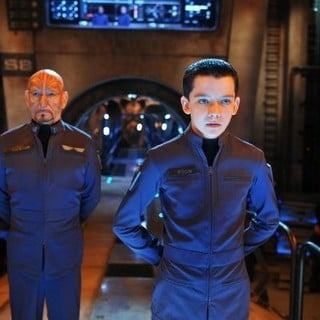 Ender's Game - Ben Kingsley stars as Mazer Rackham and Asa Butterfield stars as Ender Wiggin in Summit Entertainment's Ender's Game (2013). Photo credit by Richard Foreman.