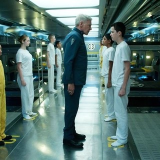 Harrison Ford, Suraj Partha and Asa Butterfield in Summit Entertainment's Ender's Game (2013)