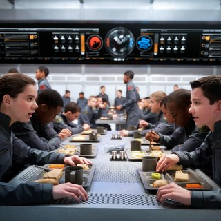 Hailee Steinfeld stars as Petra Arkanian and  Asa Butterfield 	stars as Ender Wiggin in Summit Entertainment's Ender's Game (2013)