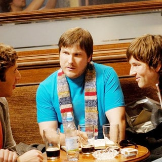 Chris O'Dowd, Marc Wootton and Dean Lennox Kelly in Picturehouse Entertainment's Frequently Asked Questions About Time Travel (2009) - faqattl01