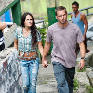 Fast Five - Jordana Brewster stars as Mia Toretto and Paul Walker stars as Brian O'Conner in Universal Pictures' Fast Five (2011)