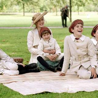 Joe Prospero, Nick Roud, Freddie Highmore, Luke Spill and Kate Winslet in Miramax Films' Finding Neverland (2004) - finding_neverland_14