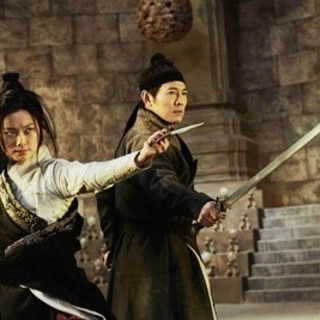 Chris Lee and Jet Li (Chow Wai On) in Indomina Releasing's The Flying Swords of Dragon Gate (2012)