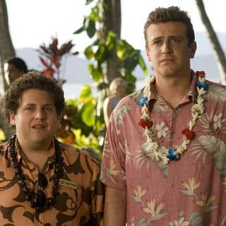 Jonah Hill as Matthew and Jason Segel as Peter Bretter in Universal Pictures' Forgetting Sarah Marshall (2008)