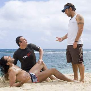 Russell Brand, Jason Segel and Paul Rudd in Universal Pictures' Forgetting Sarah Marshall (2008) - foc_21