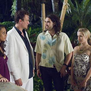 Mila Kunis, Jason Segel, Kristen Bell and Russell Brand  in Universal Pictures' Forgetting Sarah Marshall (2008) - foc_28