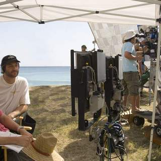 Director Nicholas Stoller and producer Judd Apatow on the set of Universal Pictures' Forgetting Sarah Marshall (2008)
