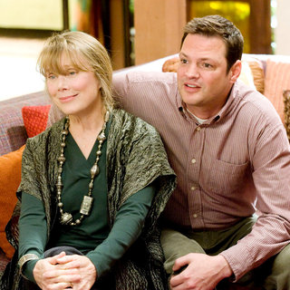 Sissy Spacek and Vince Vaughn (Brad) in New Line Cinema's Four Christmases (2008)