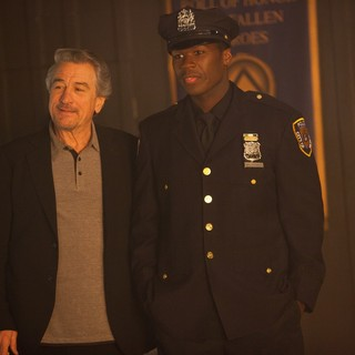 Robert De Niro stars as Sarcone and 50 Cent stars as Malo in Lions Gate Films' Freelancers (2012)