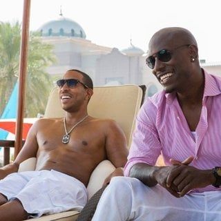 Furious 7 - Ludacris stars as Tej Parker and Tyrese Gibson stars as Roman Pearce in Universal Pictures' Furious 7 (2015)