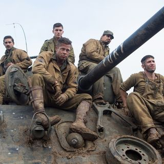 Shia LaBeouf, Xavier Samuel, Brad Pitt and Michael Pena in Columbia Pictures' Fury (2014) - fury-04