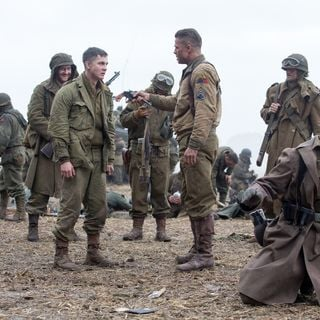 Logan Lerman stars as Norman Ellison and Brad Pitt stars as Wardaddy in Columbia Pictures' Fury (2014) - fury-06
