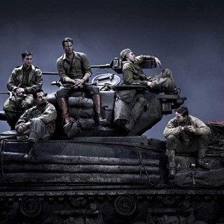 Logan Lerman, Brad Pitt, Scott Eastwood, Michael Pena and Shia LaBeouf in Columbia Pictures' Fury (2014) - fury-2014-01
