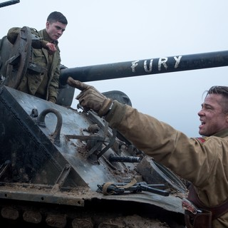 Logan Lerman stars as Norman Ellison and Brad Pitt stars as Wardaddy in Columbia Pictures' Fury (2014) - fury-image05