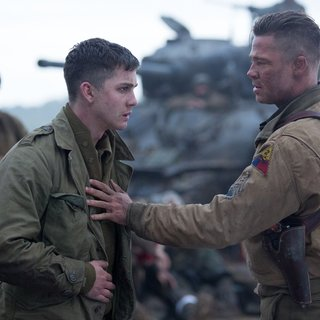 Logan Lerman stars as Norman Ellison and Brad Pitt stars as Wardaddy in Columbia Pictures' Fury (2014) - fury-image06