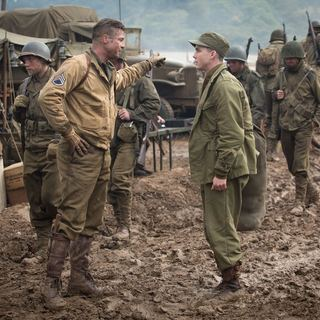 Brad Pitt stars as Wardaddy and Logan Lerman stars as Norman Ellison in Columbia Pictures' Fury (2014) - fury-image07