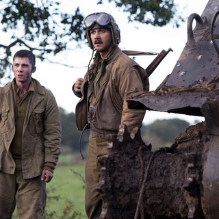 Logan Lerman stars as Norman Ellison and Shia LaBeouf stars as Bible in Columbia Pictures' Fury (2014) - fury-picture02