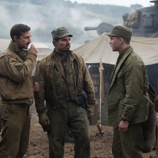 Shia LaBeouf, Michael Pena, Logan Lerman and Jon Bernthal in Columbia Pictures' Fury (2014) - fury-picture10