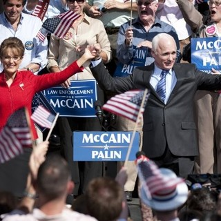Julianne Moore stars as Sarah Palin and Ed Harris stars as John McCain in HBO Films' Game Change (2012)