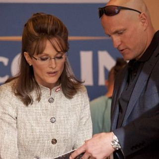 Julianne Moore stars as Sarah Palin and Woody Harrelson stars as Steve Schmid in HBO Films' Game Change (2012)