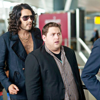 Get Him to the Greek - Russell Brand stars as Aldous Snow and Jonah Hill stars as Aaron Greenberg in Universal Pictures' Get Him to the Greek (2010)