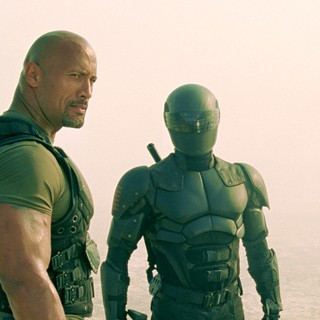 The Rock stars as Roadblock and Snake Eyes in Paramount Pictures' G.I. Joe: Retaliation (2013)