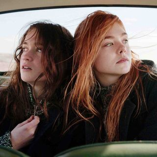 Alice Englert stars as Rosa and Elle Fanning stars as Ginger in A24's Ginger and Rosa (2013)
