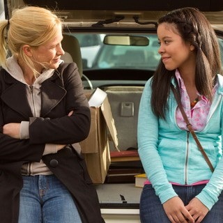 Patricia Arquette stars as Ms. Armstrong and Cierra Ramirez stars as Ansiedad in Pantelion Films' Girl in Progress (2012). Photo credit by Bob Akester.