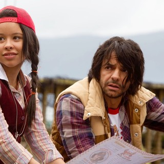 Cierra Ramirez stars as Ansiedad and Eugenio Derbez stars as Mission Impossible in Pantelion Films' Girl in Progress (2012). Photo credit by Bob Akester.