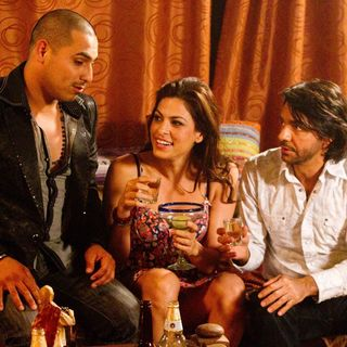 Espinoza Paz, Eva Mendez and Eugenio Derbez in Pantelion Films' Girl in Progress (2012). Photo credit by Bob Akester.