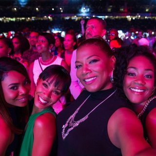 Tiffany Haddish, Jada Pinkett Smith, Queen Latifah and Regina Hall in Universal Pictures' Girls Trip (2017)