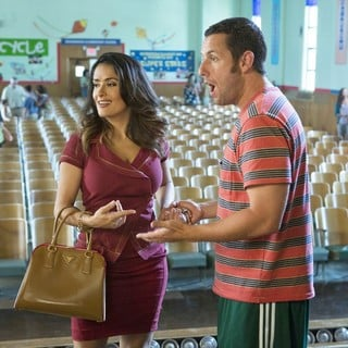 Salma Hayek stars as Roxanne Chase-Feder and Adam Sandler stars as Lenny Feder in Columbia Pictures' Grown Ups 2 (2013)