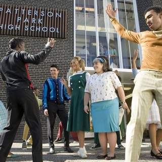 Elijah Kelley, Zac Efron, Amanda Bynes and Nikki Blonsky in New Line Cinema's Hairspray (2007)