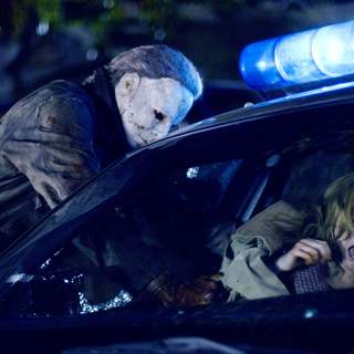 Tyler Mane as Michael Myers and Scout Taylor-Compton as Laurie Strode in MGM/Dimension Films' Halloween (2007)