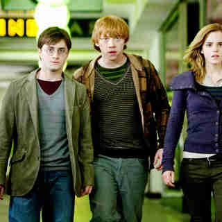 Daniel Radcliffe, Rupert Grint and Emma Watson in Warner Bros. Pictures' Harry Potter and the Deathly Hallows: Part I (2010). Photo credit by Jaap Buitendijk.