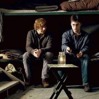 Harry Potter and the Deathly Hallows: Part I - Rupert Grint stars as Ron Weasley and Daniel Radcliffe stars as Harry Potter in Warner Bros. Pictures' Harry Potter and the Deathly Hallows: Part I (2010)