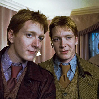 Harry Potter and the Deathly Hallows: Part I - James Phelps stars as Fred Weasley and Oliver Phelps stars as George Weasley in Warner Bros. Pictures' Harry Potter and the Deathly Hallows: Part I (2010)