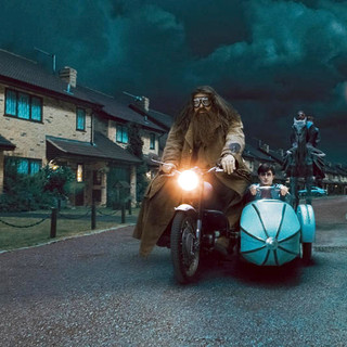 Harry Potter and the Deathly Hallows: Part I - Daniel Radcliffe stars as Harry Potter and Robbie Coltrane stars as Rubeus Hagrid in Warner Bros. Pictures' Harry Potter and the Deathly Hallows: Part I (2010)