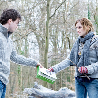 Daniel Radcliffe stars as Harry Potter and Emma Watson stars as Hermione Granger in Warner Bros. Pictures' Harry Potter and the Deathly Hallows: Part I (2010)