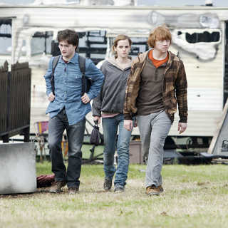 Daniel Radcliffe, Emma Watson and Rupert Grint in Warner Bros. Pictures' Harry Potter and the Deathly Hallows: Part I (2010)