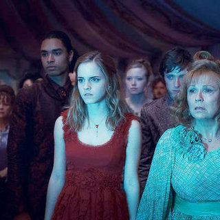 Emma Watson stars as Hermione Granger and Julie Walters stars as Molly Weasley in Warner Bros. Pictures' Harry Potter and the Deathly Hallows: Part I (2010) - harry_potter_dhp1_74
