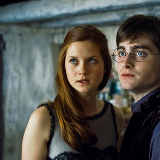 Bonnie Wright stars as Ginny Weasley and Daniel Radcliffe stars as Harry Potter in Warner Bros. Pictures' Harry Potter and the Deathly Hallows: Part I (2010) - harry_potter_dhp1_98