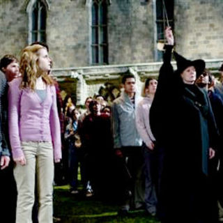 Harry Potter and the Half-Blood Prince - Rupert Grint, Emma Watson and Maggie Smith in Warner Bros' Harry Potter and the Half-Blood Prince (2009)