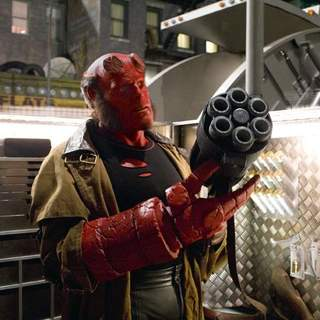 Ron Perlman as Hellboy in Universal Pictures' Hellboy II: The Golden Army (2008)