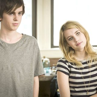 Art of Getting By, The - Freddie Highmore stars as George Zinavoy and Emma Roberts stars as Sally Howe in Fox Searchlight Pictures' The Art of Getting By (2011)