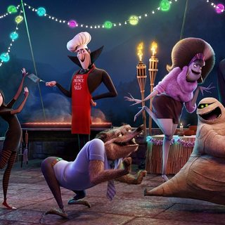 Jonathan, Mavis, Wayne, Dracula, Murray the Mummy and Frankenstein in Columbia Pictures' Hotel Transylvania 2 (2015)