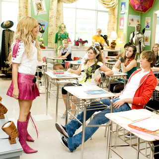 High School Musical 3: Senior Year - Ashley Tisdale stars as Sharpay Evans and Zac Efron stars as Troy Bolton in Walt Disney Pictures' High School Musical 3: Senior Year (2008)