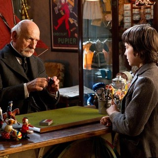 Christopher Lee stars as Monsieur Labisseqq and 	Asa Butterfield stars as Hugo Cabret in Paramount Pictures' Hugo (2011)