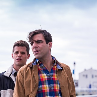 Charlie Carver stars as Tyler and Zachary Quinto stars as Bennett in RabbitBandini Productions' I Am Michael (2017)